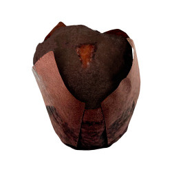 Muffin negro con crema de...